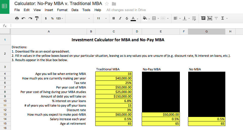 NPMBA Investment Calculator