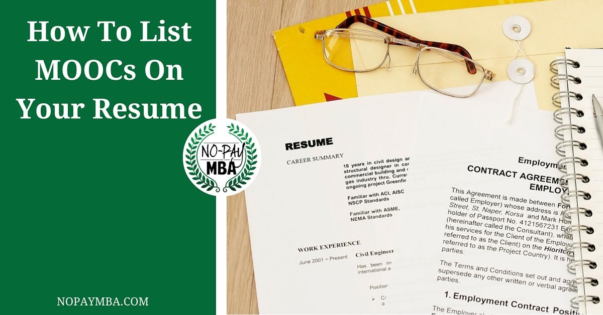 resume non-degree coursework