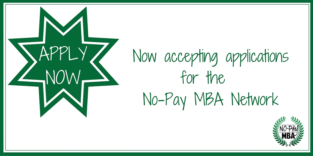 No Pay MBA_Accepting Applications