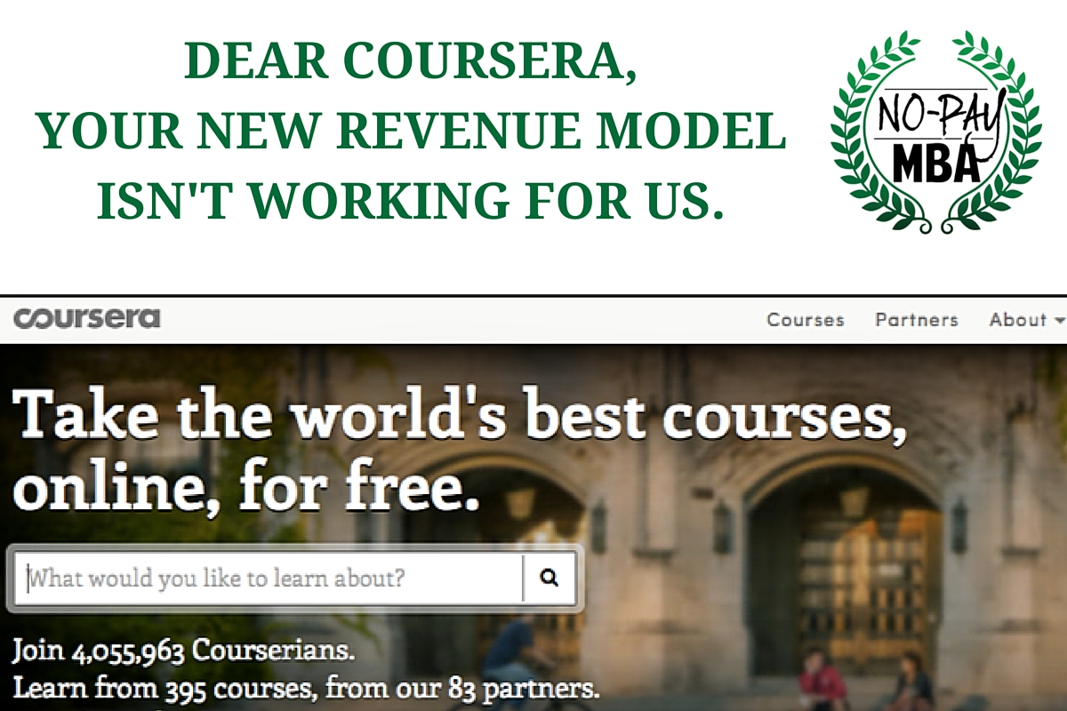 An Open Letter To Coursera No Pay Mba