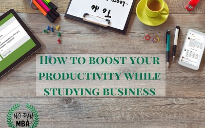 It's not just about learning finance. 6 ways to become more productive while studying business.
