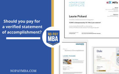 Should you pay for a verified statement of accomplishment? Updated for 2015