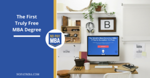 The First Truly Free MBA Degree | No-Pay MBA